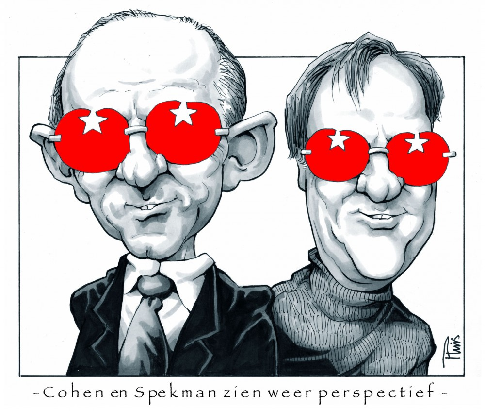 cartoon Cohen:Spekman  kopie