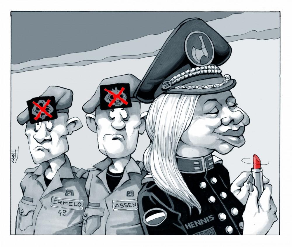 cartoon Defensie , De Telegraaf