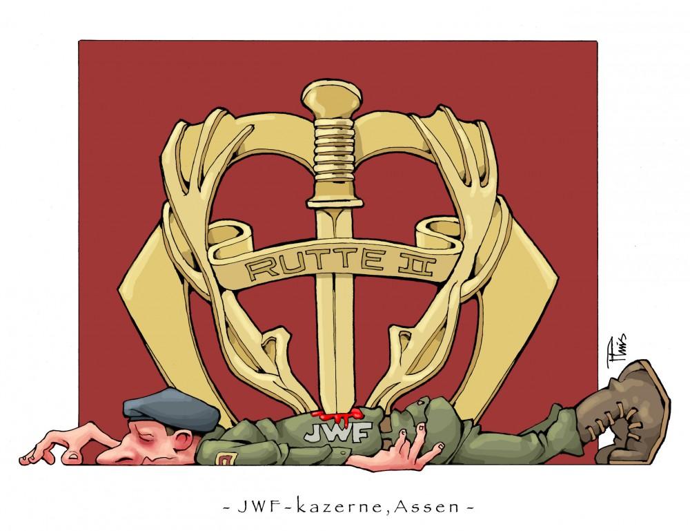 cartoon JWF-kazerne Assen