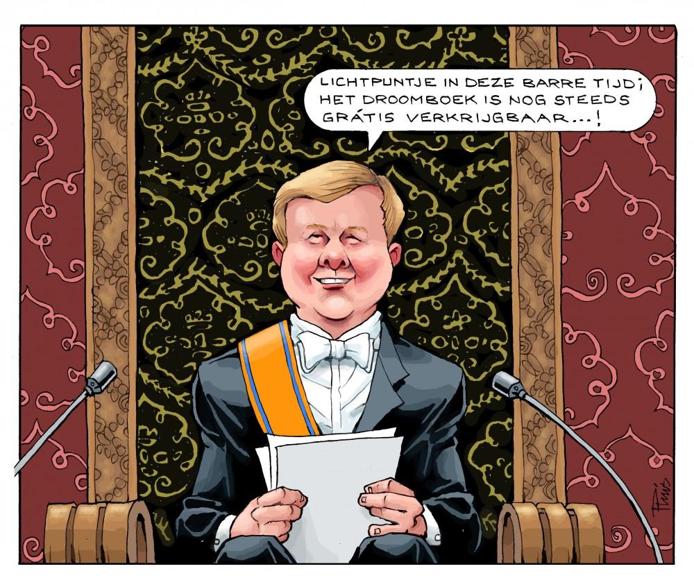 cartoon Troonrede 2013
